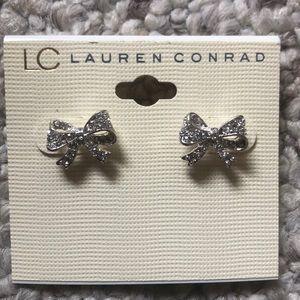 Lauren Conrad CZ Ribbon Earrings